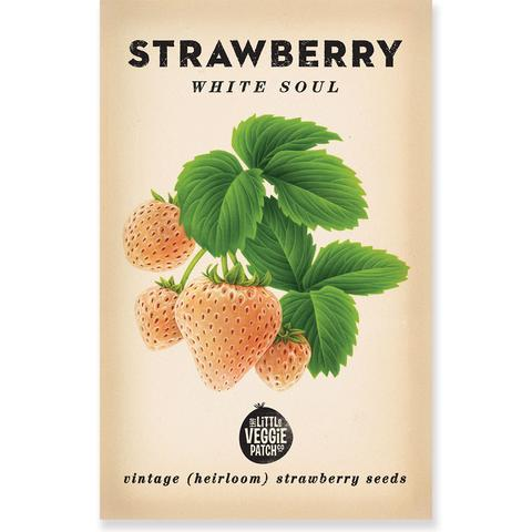 "STRAWBERRY ""WHITE SOUL"" HEIRLOOM SEEDS"
